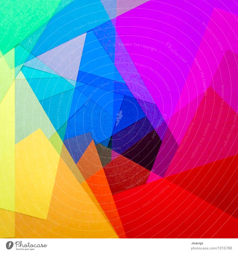 polygon Style Design Esthetic Sharp-edged Multicoloured Colour Creativity Irritation Intoxicant LSD Paper Spectral Double exposure Colour photo Close-up