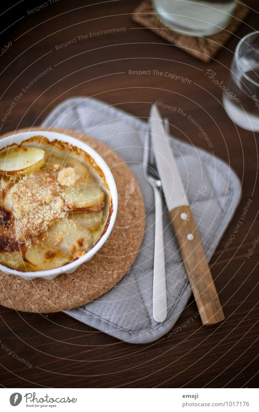 gratin Gratin Potatoes Nutrition Lunch Vegetarian diet Slow food Crockery Delicious Appetite Colour photo Interior shot Deserted Day Shallow depth of field