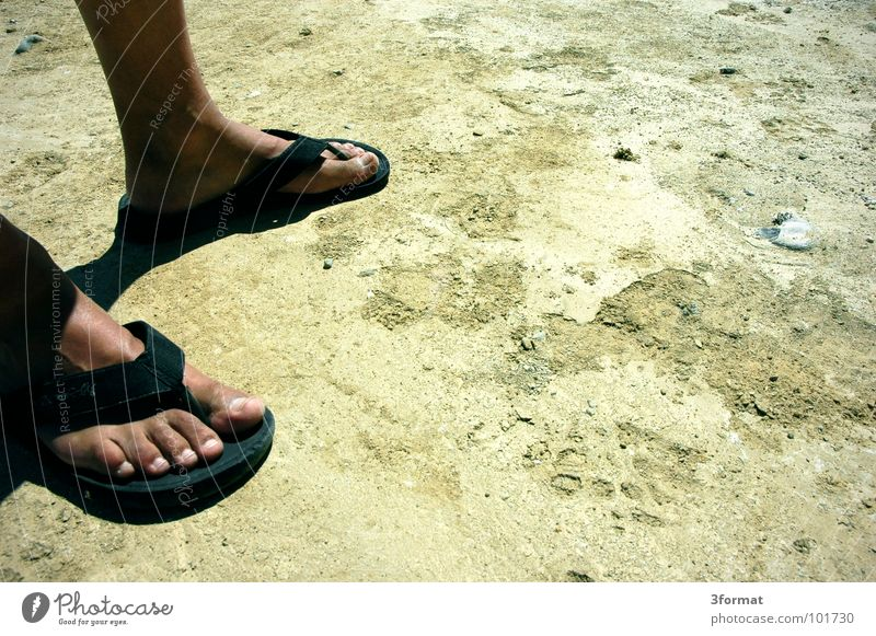 dry season Toes Calf Tuft Going In transit Come Sandal Shoe sole Flip-flops Steppe Dry Zone Africa Development Foreign aid Irrigation Third World Physics Summer