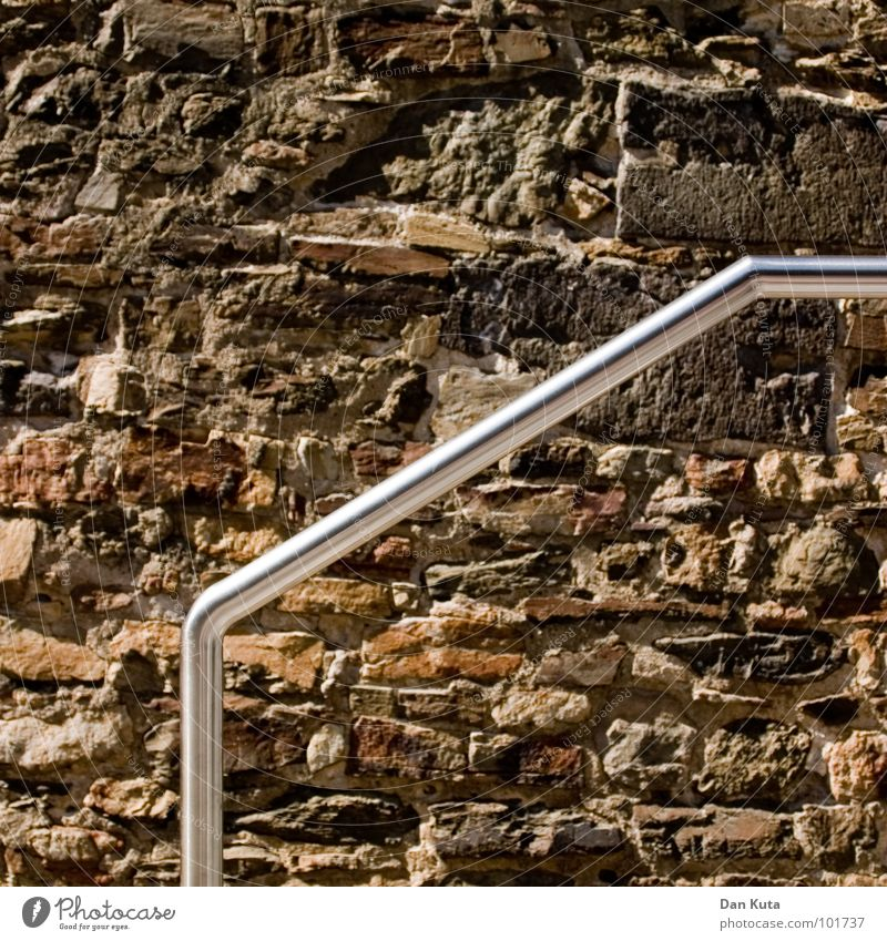 Wall (building) Stone Wall (barrier) Brown Metal Glittering Going Walking Rock Tall Stairs Broken Climbing Part Silver