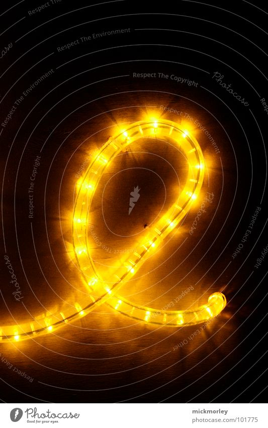 light chain 01 Light Lamp Yellow Red Dark Night Eerie Letters (alphabet) Detail Chain LED snake of light scary Traffic light Meandering