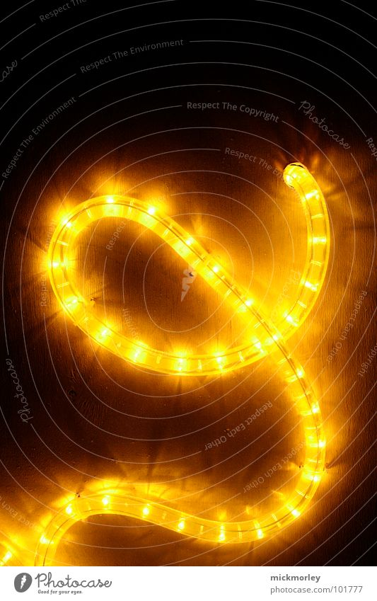 light chain 03 Light Lamp Yellow Red Dark Night Eerie Letters (alphabet) Swing Beautiful Detail Chain LED snake of light scary Traffic light Decoration
