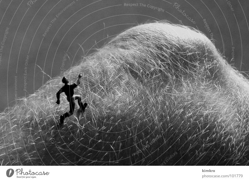 Body Landscape I Knee Hill Black & white photo Runner Running Walking