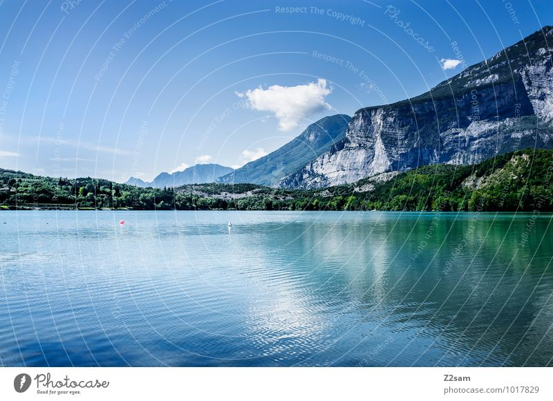 Sky Nature Vacation & Travel Blue Green Colour Summer Relaxation Loneliness Landscape Calm Environment Mountain Natural Lake Moody