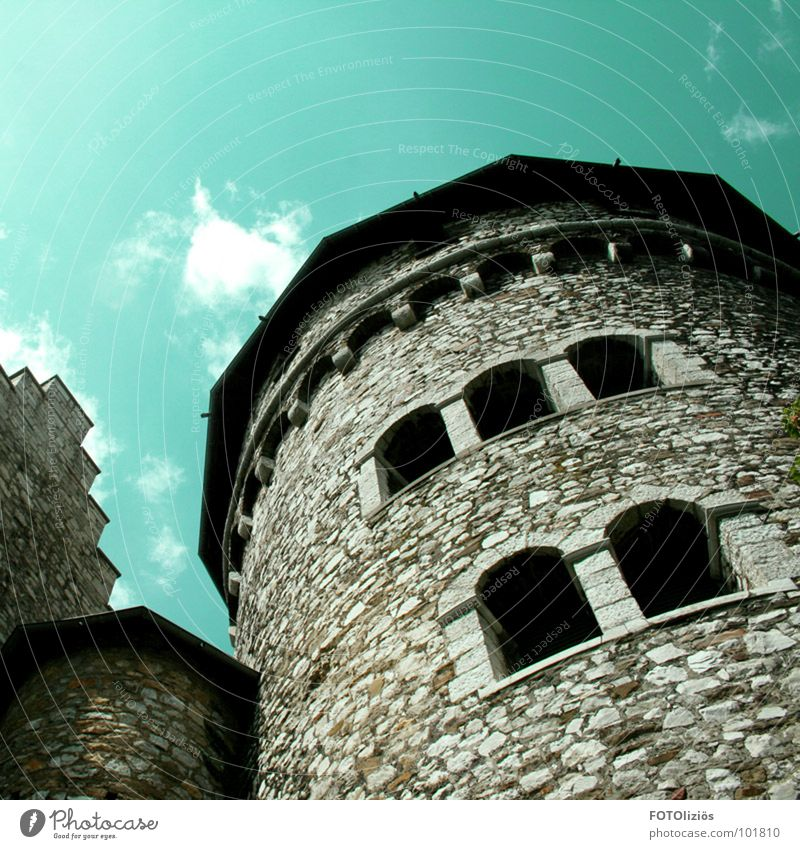 Old Sky Clouds Window Stone Wall (barrier) Power Force Tower Monument Historic Landmark Build Old fashioned Aachen