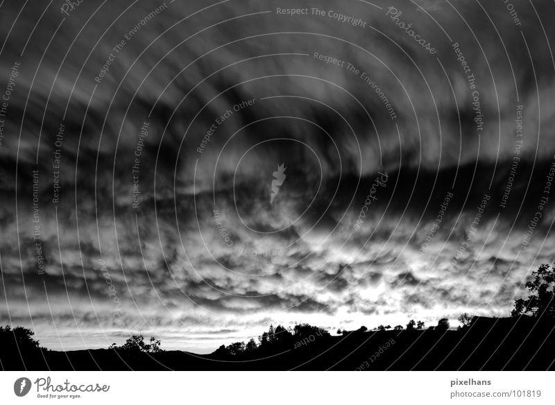 Sky White Tree Summer Black Clouds Dark Mountain Gray Landscape Wind Weather Threat Gale Storm Bizarre