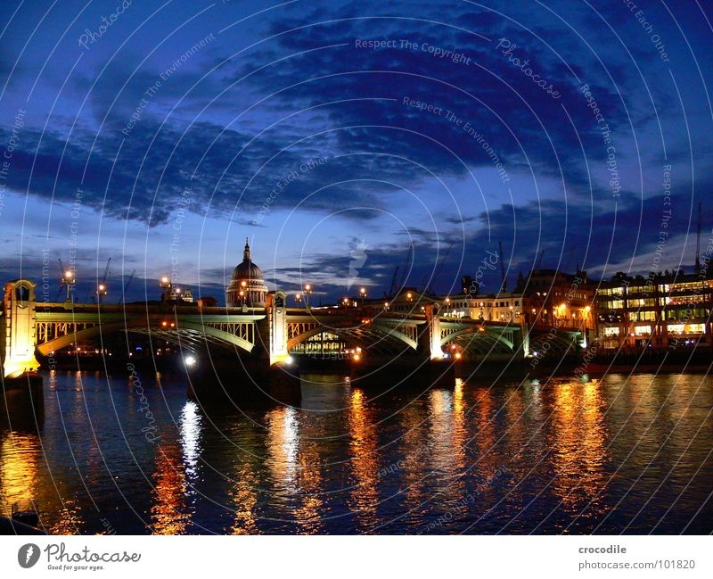 london at night London Long exposure England Reflection Clouds Landmark Monument Bridge Sky Thamse River Light Street Capital city Cathedral