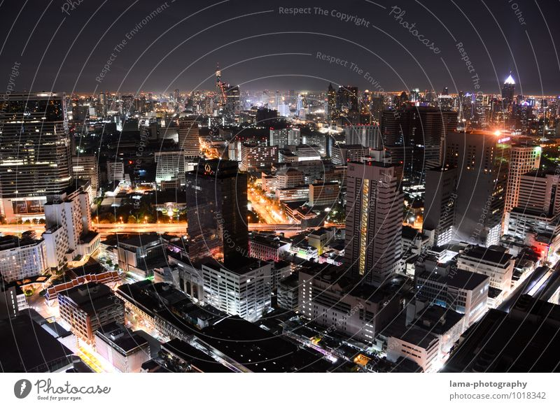 One Night in Bangkok II Advancement Future Energy industry Thailand Asia Town Capital city Skyline Overpopulated House (Residential Structure) High-rise