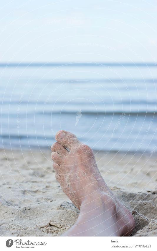Human being Sky Vacation & Travel Blue Summer Relaxation Ocean Calm Beach Coast Sand Feet Lie Masculine Contentment Tourism