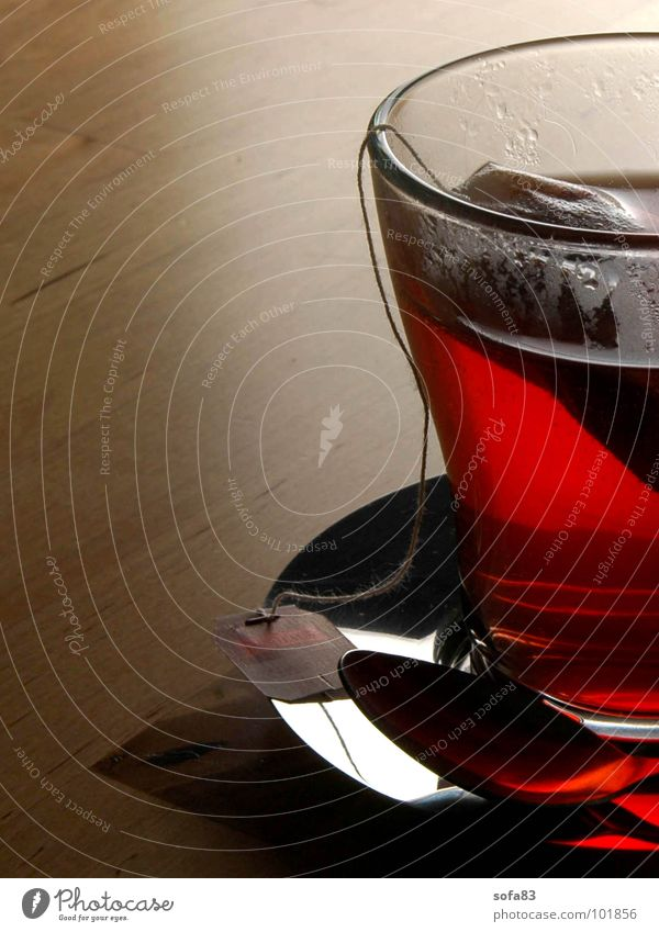 Red Calm Relaxation Glass Table Beverage Kitchen Drinking Tea Cup To enjoy Cozy Switch off Teabag Tea cup Fruit tea