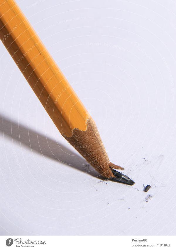 Orange Broken Write Pen Disaster Pencil Fragment Part Pencil lead