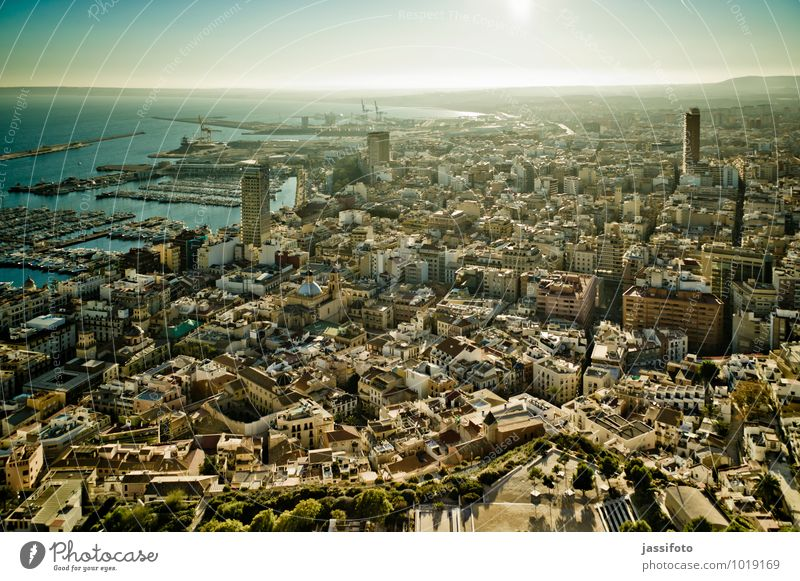 Alicante Spain Europe Town Port City Downtown Harbour Historic Maritime Far-off places Costa Blanca Mediterranean sea Iberian Peninsula Spanish sea of houses