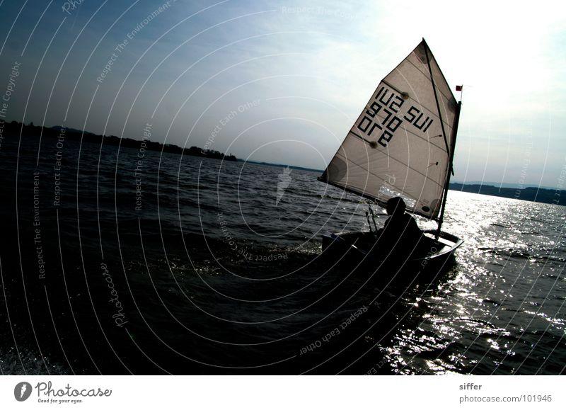 Sky Blue Water Vacation & Travel White Sun Ocean Black Dark Sports Playing Lake Watercraft Going Wind Dirty