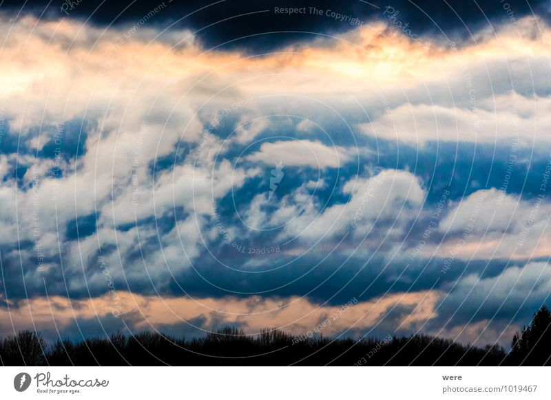 cloud mirror Environment Nature Landscape Sky Clouds Storm clouds Climate Weather Bad weather Wind Gale Rain Thunder and lightning Cold Colour photo