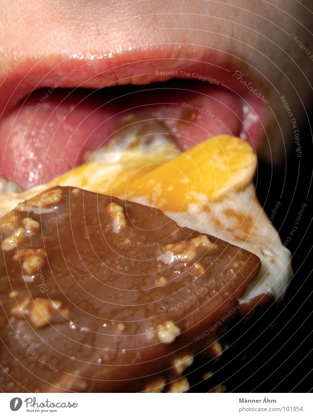 Woman Summer Eating Mouth Ice Ice cream Candy To enjoy Tongue Lick Nut