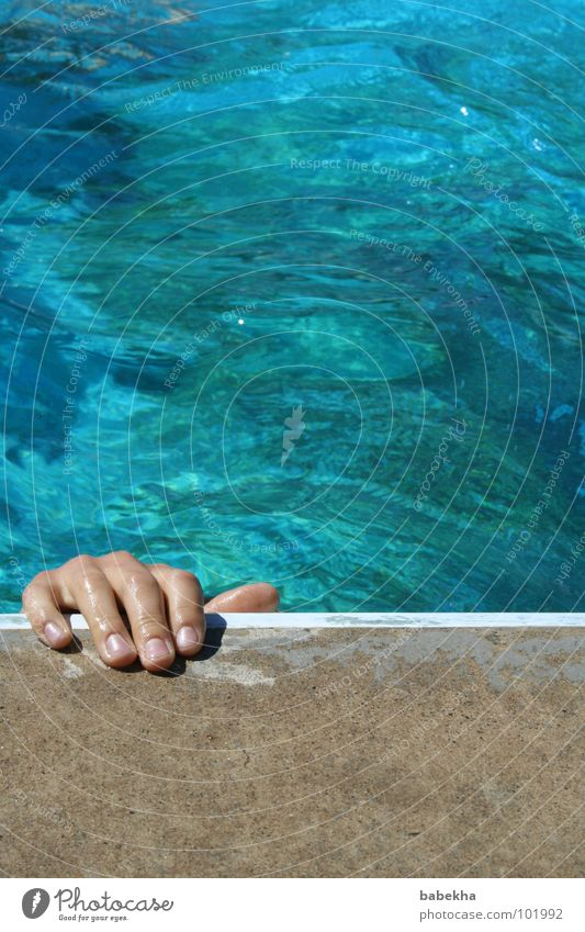 Hand Summer Playing Swimming pool