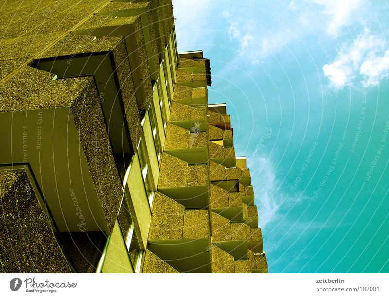 Sky House (Residential Structure) Concrete Balcony Story Town house (City: Block of flats)