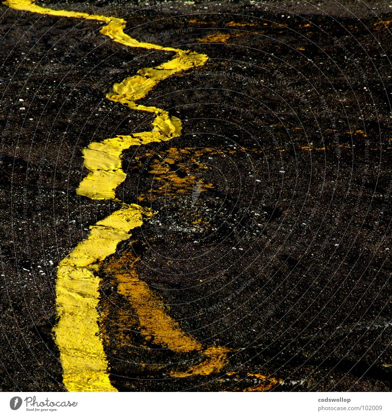 Black Yellow Movement Line Asphalt Physics Science & Research Universe Traffic infrastructure Parking lot Attempt Pavement Celestial bodies and the universe