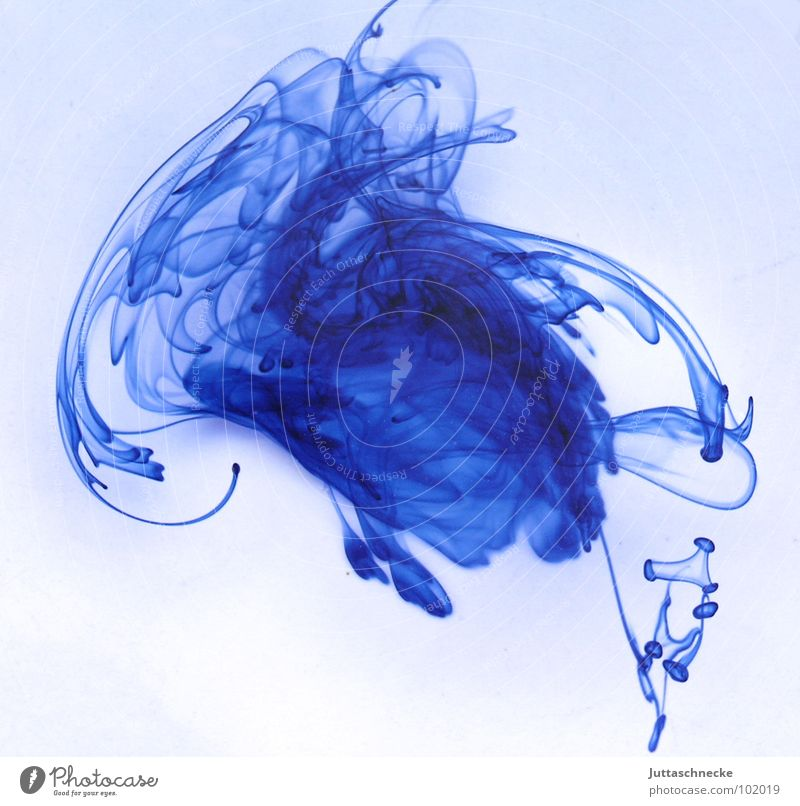 Water Beautiful White Blue Colour Art Drops of water Circle Middle Concentrate Patch Muddled Ink Arts and crafts  Distribute Bland
