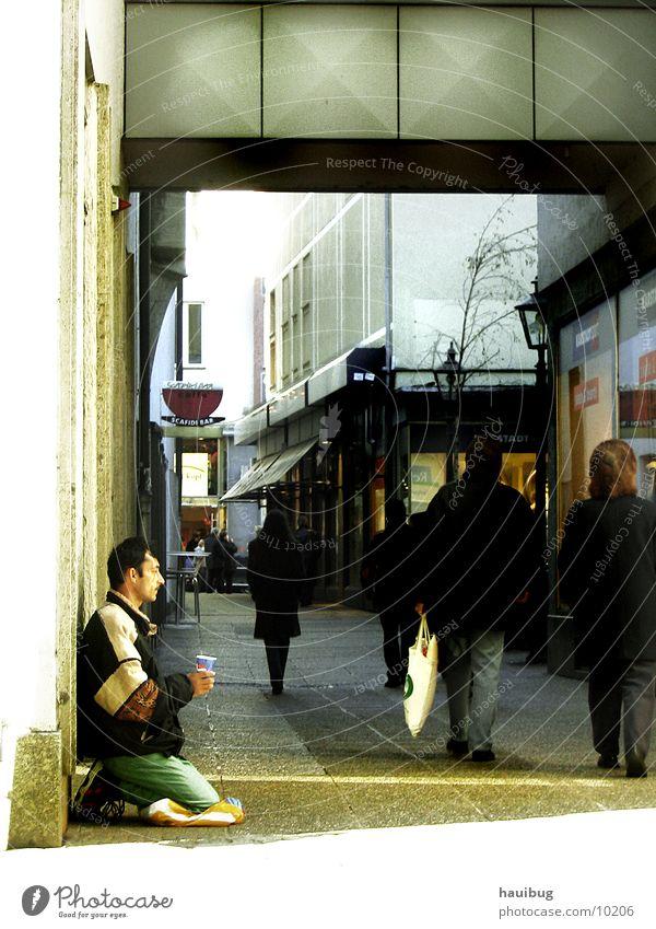 Man Loneliness Think Arm Empty Corner Panhandler