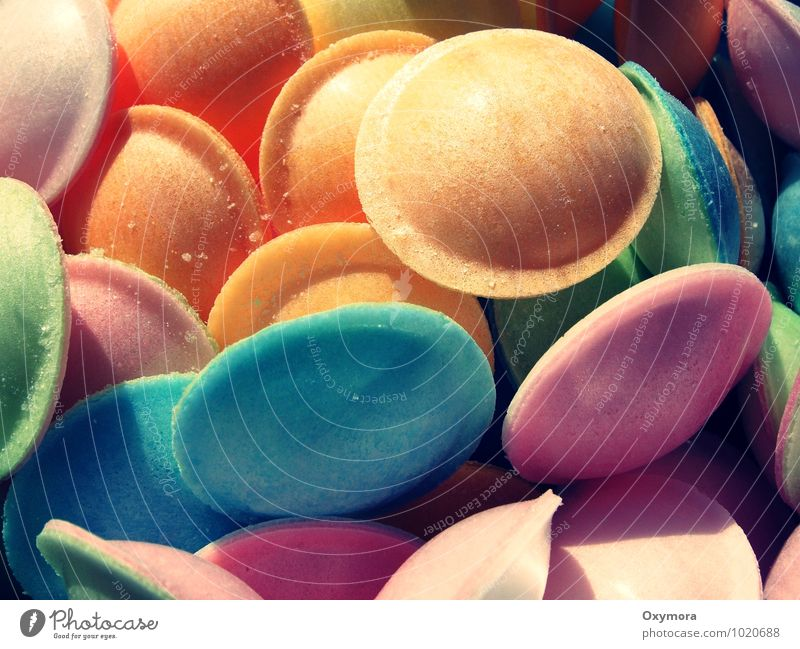Blue Green Yellow Eating Feasts & Celebrations Food Party Friendship Pink Orange Birthday Infancy Retro Round Candy Carnival