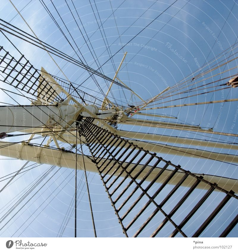 taken the wind out of my sails Sailing Sailing ship Watercraft Rickmer Rickmers Wanderlust Far-off places Adventure Harbour Electricity pylon Freedom Seaman