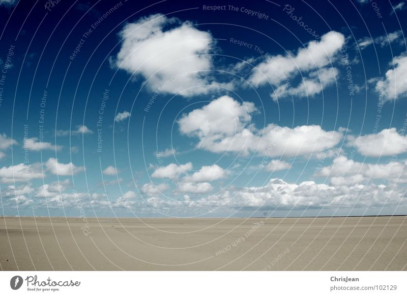 Sky Ocean Blue Beach Clouds Dark Sand Coast Weather Flying Large Horizon Island Deep Pull Roll