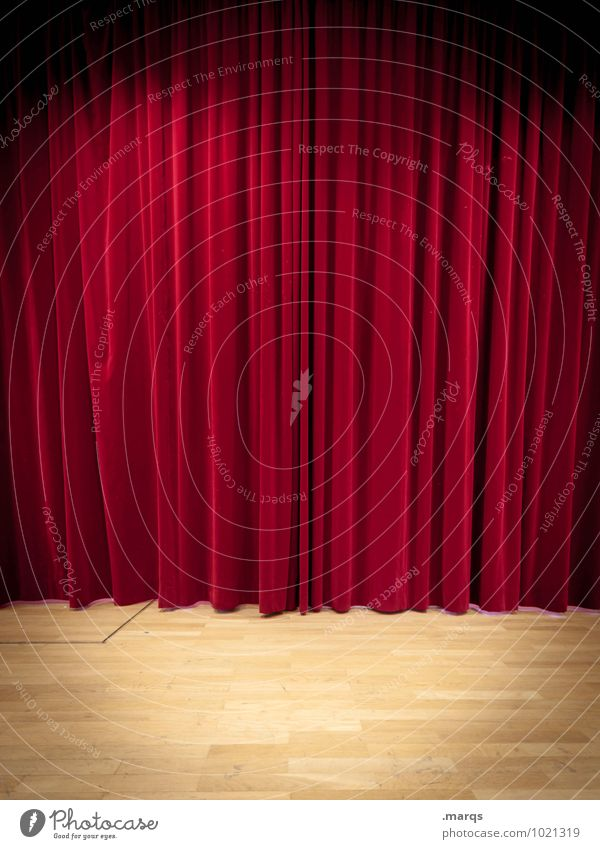 The stage of the world Entertainment Event Stage Shows Theatre Opera Media Cinema Drape Red Anticipation Curiosity Folds Velvet Colour photo Interior shot