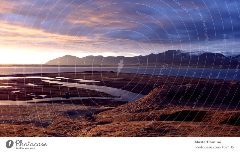 Water Sky Ocean Calm Clouds Snow Grass Mountain Lake Peace Hill Iceland Dusk Fjord Diffuse