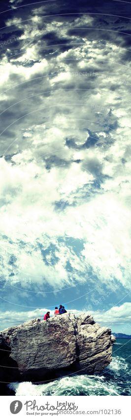 Water Sky Ocean Blue Clouds Stone Weather Rock Infinity Spain