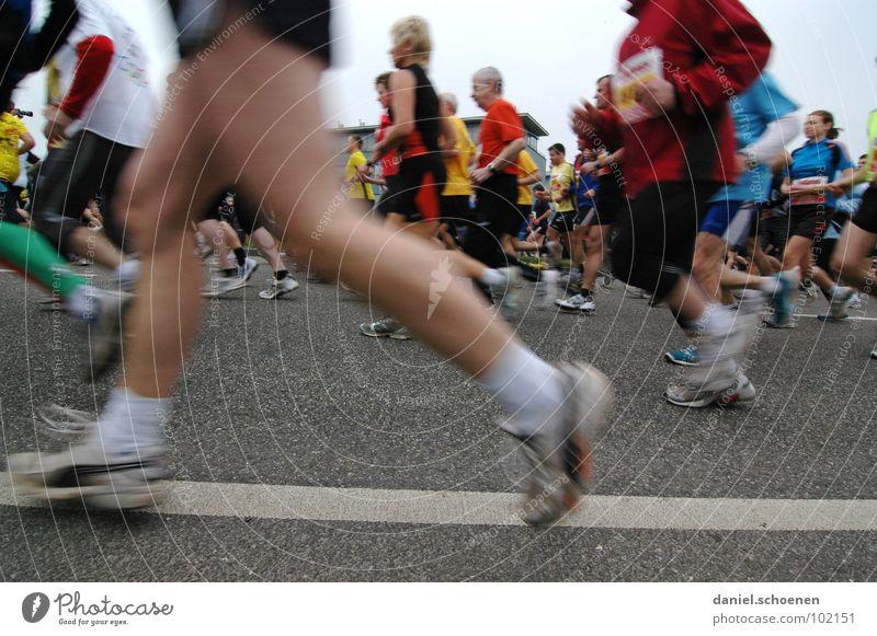 recently at the marathon (part 3) Jogging Speed Footwear Sneakers Endurance Motion blur Marathon Joy Sports Playing Fitness Walking Running Movement Legs
