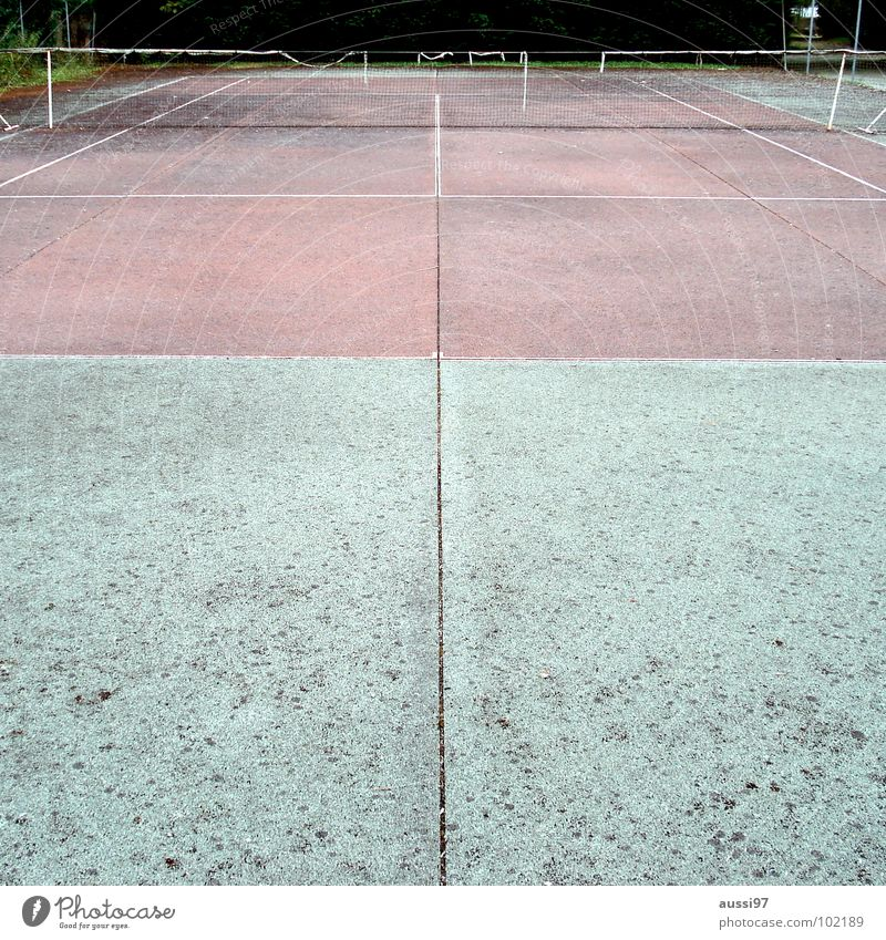 Old Leisure and hobbies Net Derelict Tennis Decompose Ball sports Tennis ball Baseline Tennis rack