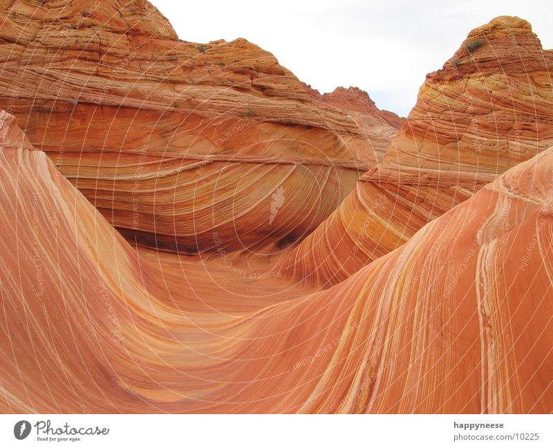 Stone Sand Waves Wind Rock USA Arizona Utah