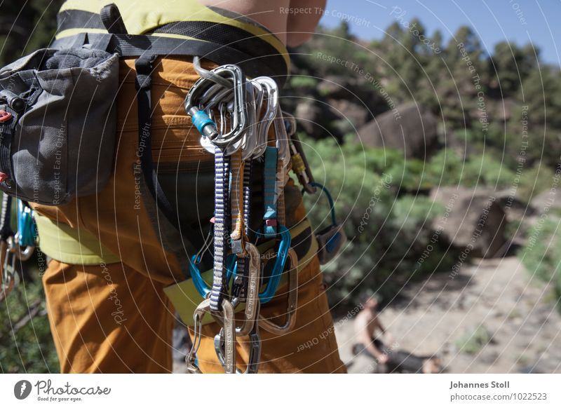 Pants full and yet no fear Leisure and hobbies Climbing Mountaineering Masculine 1 Human being 18 - 30 years Youth (Young adults) Adults Nature Landscape Rock