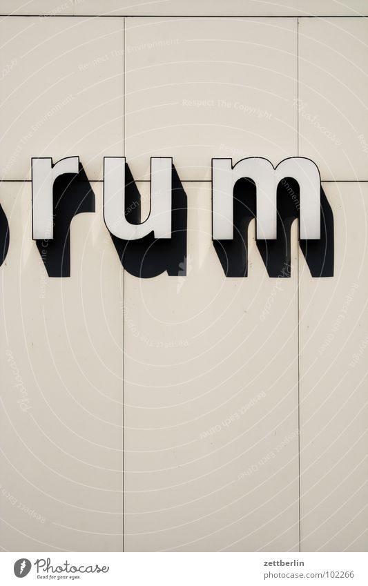 cultural info Rum Typography Lettering Berlin culture forum Detail Letters (alphabet) Characters Art Culture Alcoholic drinks Shadow building Sharoun