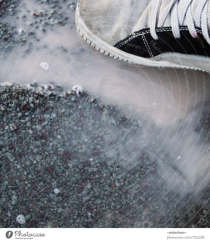 splash Footwear Gravel Shoelace Gray Black Dirty Footstep Water Rain Inject trudge shoe Feet Legs