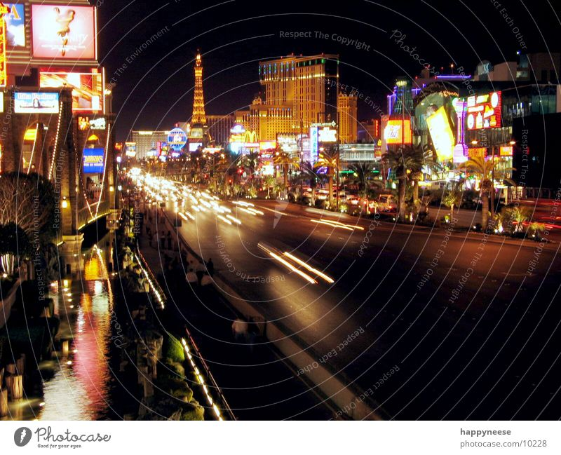 Street USA Hotel Night Avenue Nevada Striptease North America Las Vegas