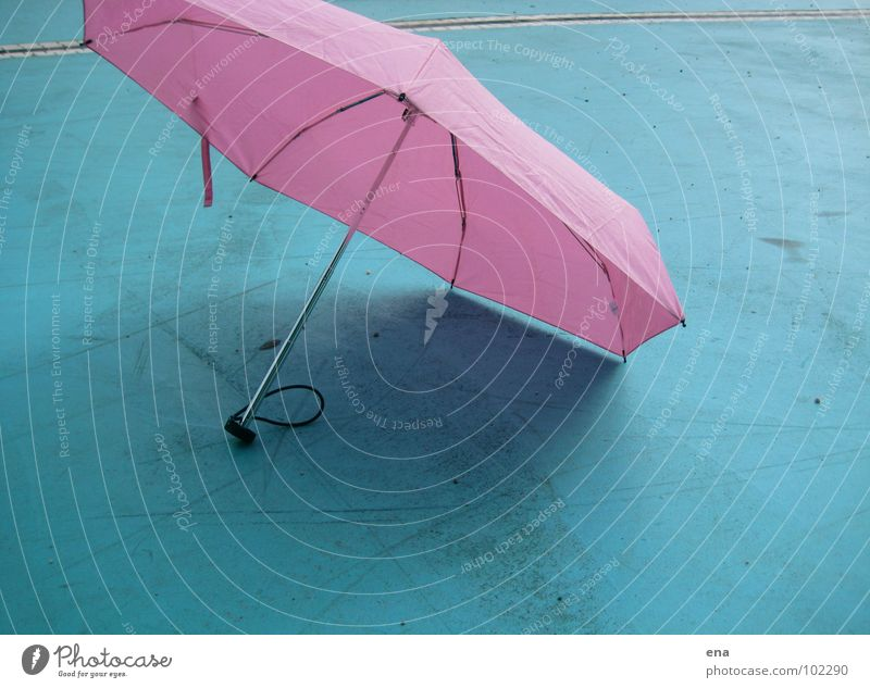 parasol III Sunshade Umbrella Wet Dry Shadow play 7 Pink Thusnelda Summer Rain Blue Protection Nature 7-corner fluffy