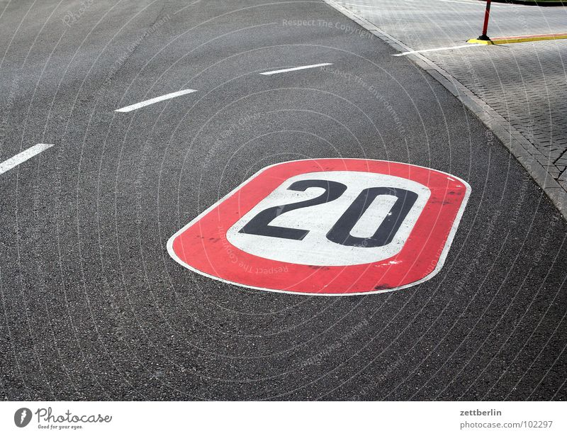Street Lanes & trails Asphalt Traffic infrastructure Curve 8 20 Jubilee Digits and numbers Dashed line