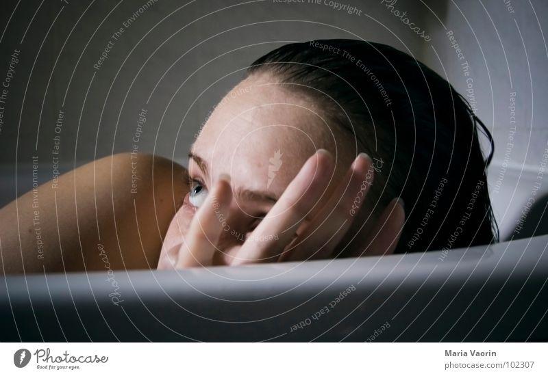 Woman Water Face Swimming & Bathing Fear Bathtub Bathroom Shoulder Wash Shame Panic Freckles Self portrait Voyeurism Hatch Tighten