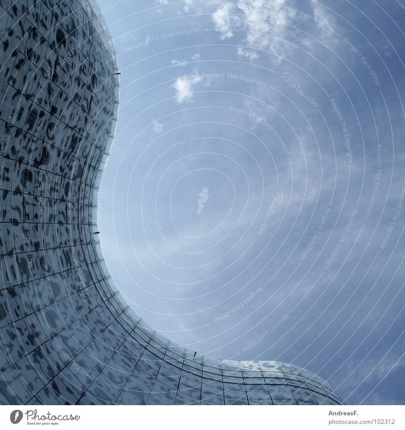 Waves Glass Facade Academic studies Modern Brandenburg Artist Library Architect Cottbus Education Glas facade IKMZ Mediacenter