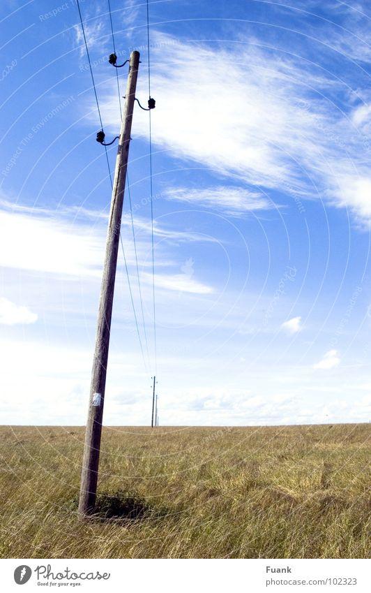 Sky Summer Clouds Far-off places Graffiti Bright Field Electricity Americas Electricity pylon