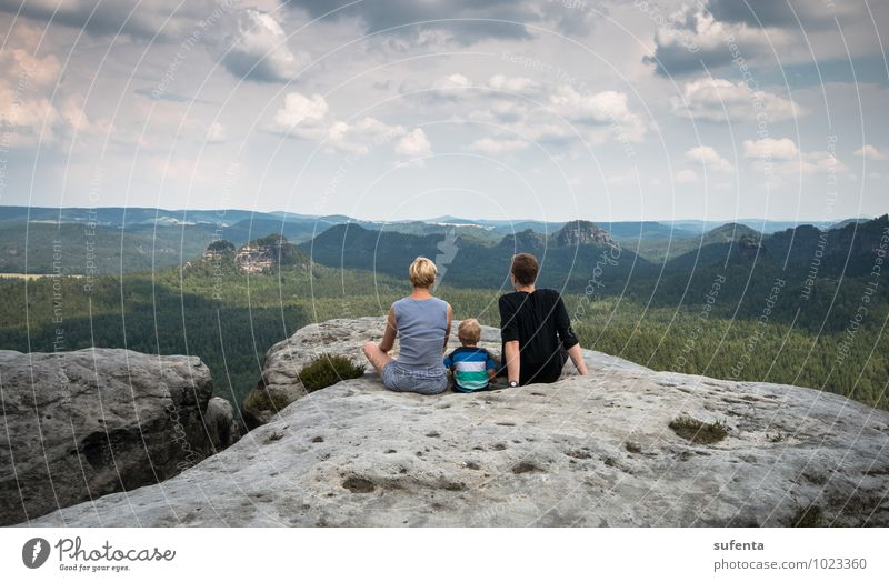 boundless Vacation & Travel Freedom Summer Mountain Hiking Human being Toddler Family & Relations Forest Dream Blonde Authentic Healthy Natural Happy Calm Life