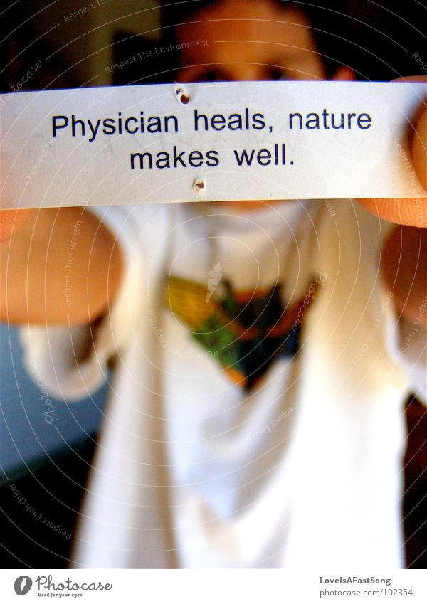 fortune cookie Nature Fortune cookie Figure of speech Doctor Paper Health care Letters (alphabet) Characters Piece of paper Boy (child) Alternative medicine