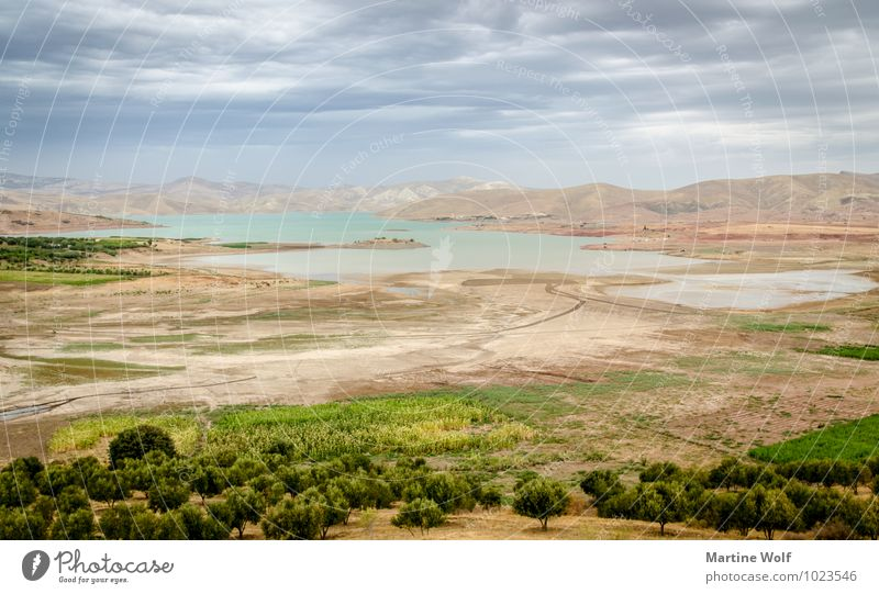 Barrage Sidi Chahed Nature Landscape Clouds Mountain Atlas Lake Morocco Africa Idyll Vacation & Travel Calm Far-off places Colour photo Exterior shot Deserted