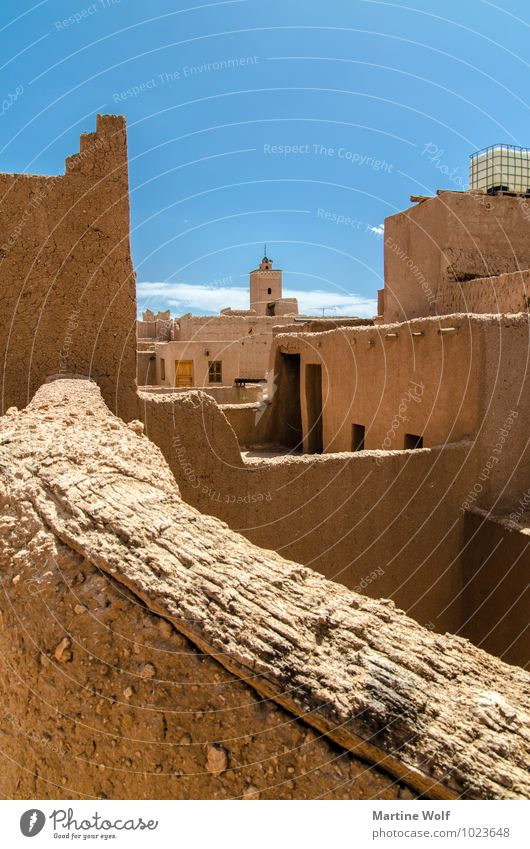 Vacation & Travel House (Residential Structure) Cloudless sky Africa Mosque Morocco Loam