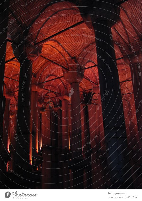 Underground Istanbul Architecture water cistern sultanahmet Column underworld