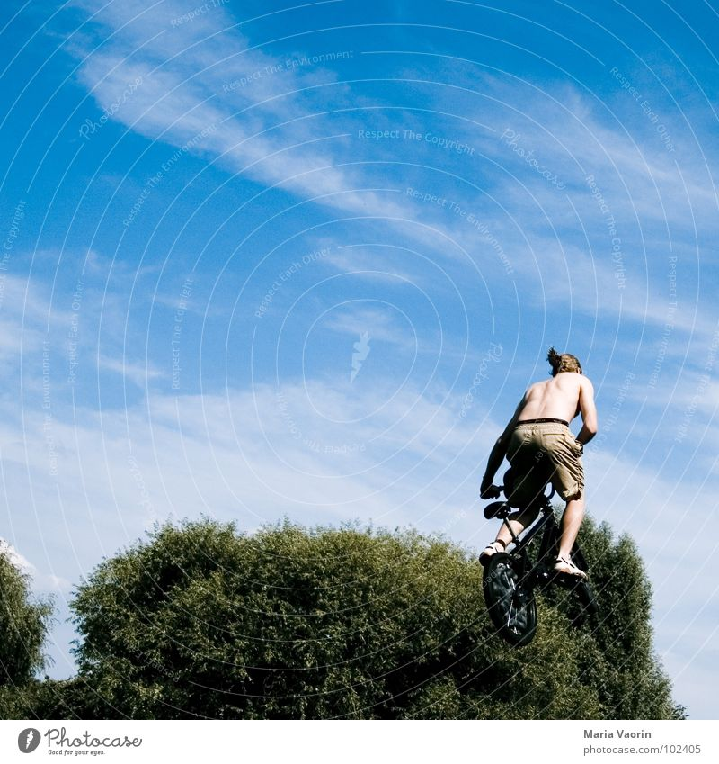 Sky Joy Far-off places Sports Playing Jump Freedom Air Bicycle Airplane Flying Free Beginning Tall To fall Infinity