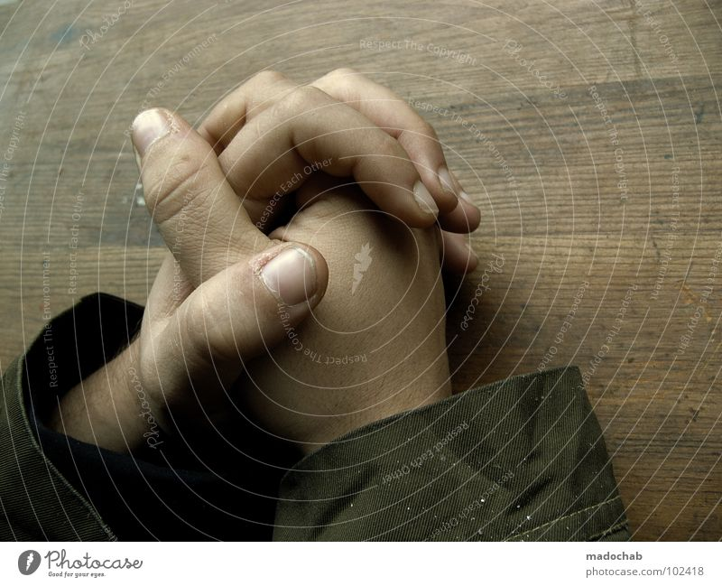 Human being Man Hand Sadness Boy (child) Religion and faith Think Masculine Power Skin Sit Lifestyle Communicate Fingers Table Touch
