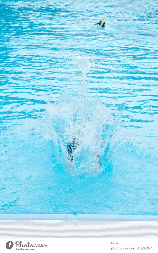 Human being Vacation & Travel Blue Summer Joy Life Movement Sports Swimming & Bathing Feet Jump Leisure and hobbies Power Tourism Trip Beginning